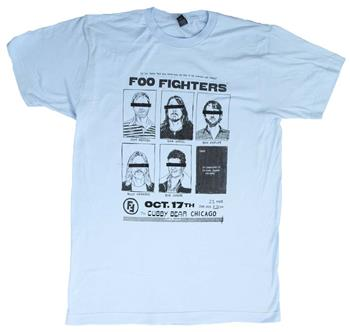 Buy Foo Fighters Cubby Bear Chicago Soft T-Shirt by Foo Fighters