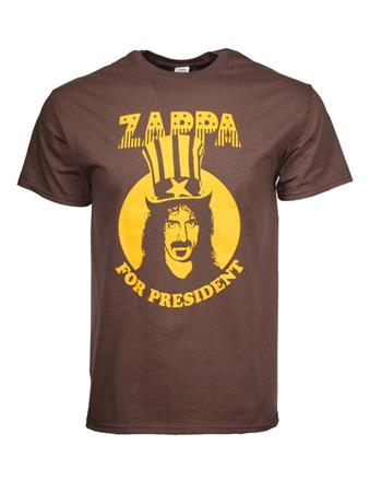 Buy Frank Zappa For President T-Shirt by Frank Zappa