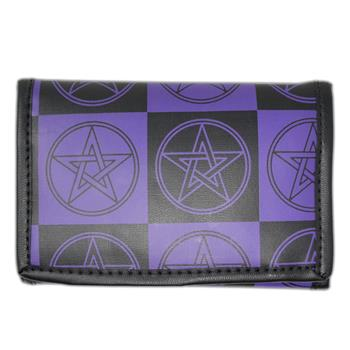 Buy Black Purple Pentagram Wallet by