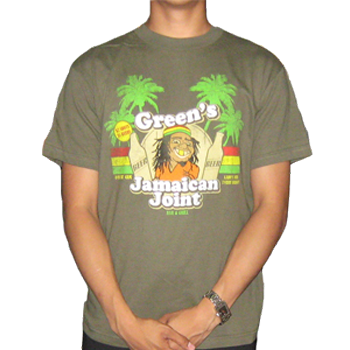 Buy Greens Jamaican Joint T-Shirt by Generic