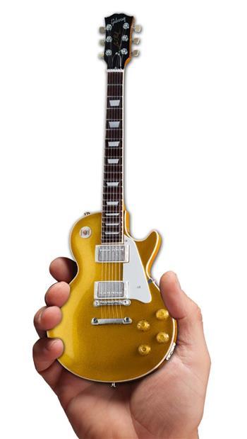 Gibson Guitars Axe Heaven Gibson 1957 Les Paul Standard Gold Top Mini Guitar Collectible