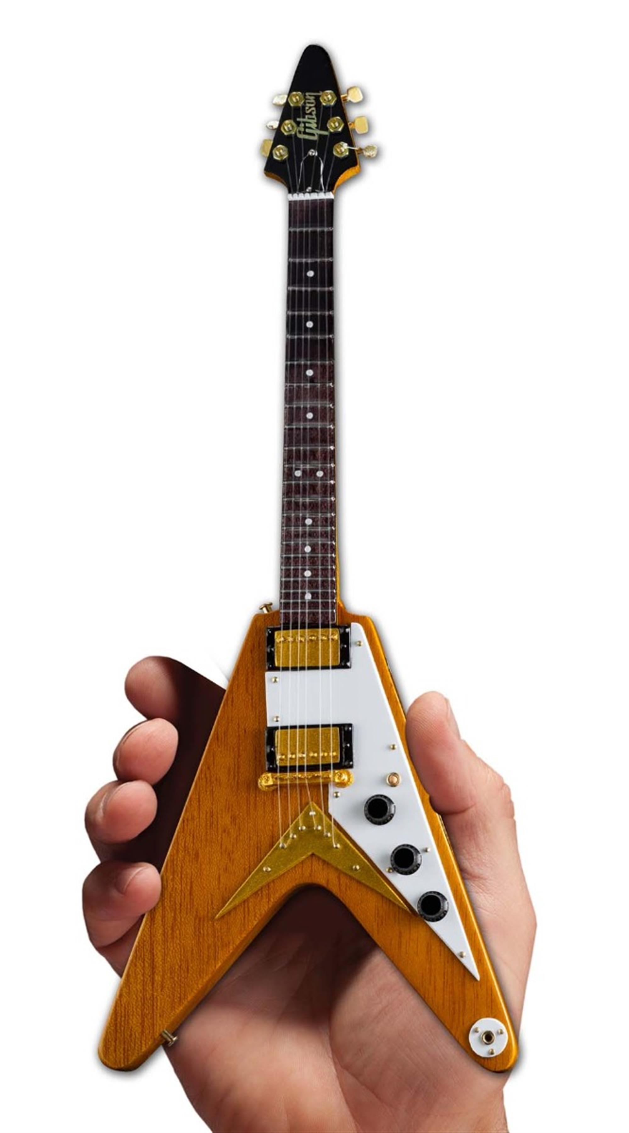 Axe Heaven Gibson 1958 Korina Flying V Mini Guitar Collectible