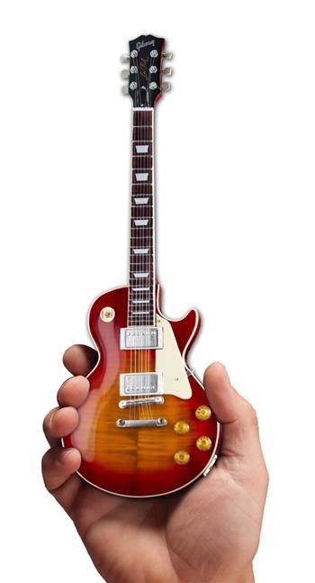 Gibson Guitars Axe Heaven Gibson 1959 Les Paul Standard Cherry Sunburst Mini Guitar Collectible