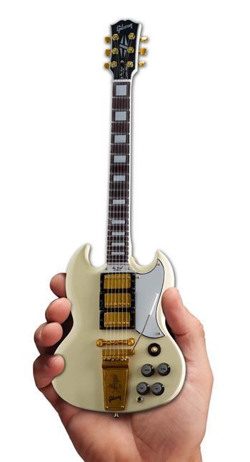 Gibson Guitars Axe Heaven Gibson 1964 SG Custom White Mini Guitar Collectible
