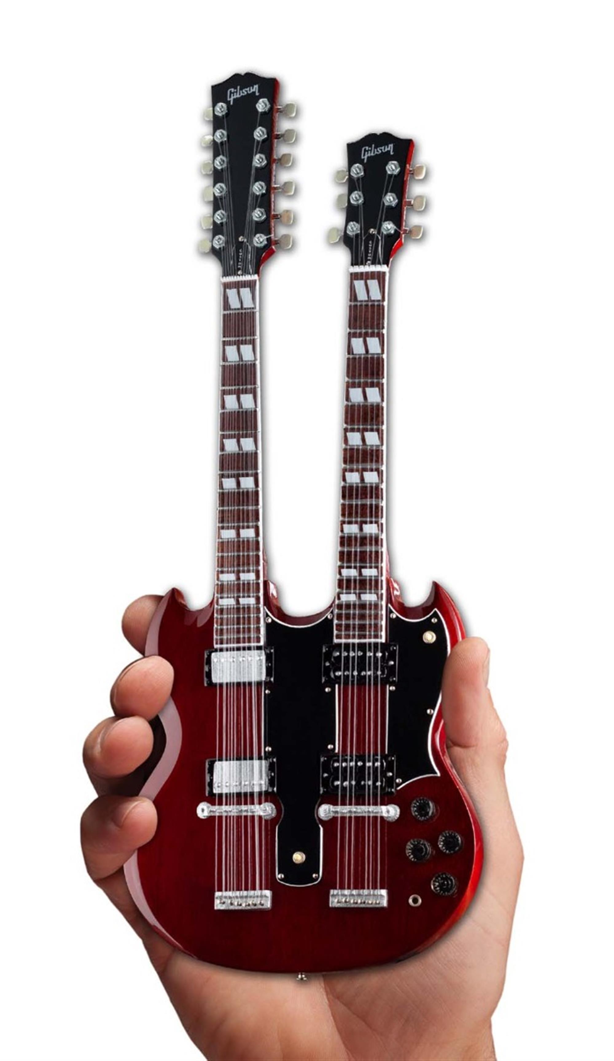 Axe Heaven Gibson SG EDS-1275 Doubleneck Cherry Mini Guitar Collectible