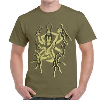 Unhuman Goddess Green T-Shirt
