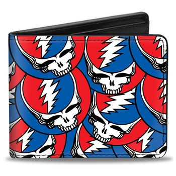 Buy Grateful Dead Steal Your Face All Over Bi-Fold Wallet by Grateful Dead