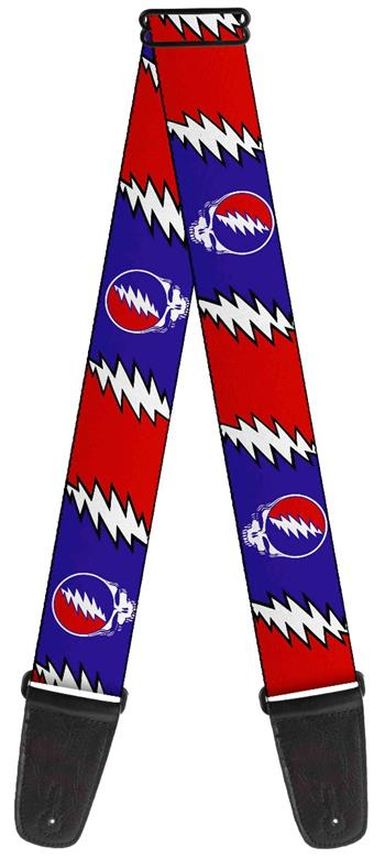 Buy Grateful Dead Steal your Face Lightning Bolt Guitar Strap by Grateful Dead