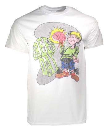 Green Day Green Day Brain Boy White T-Shirt