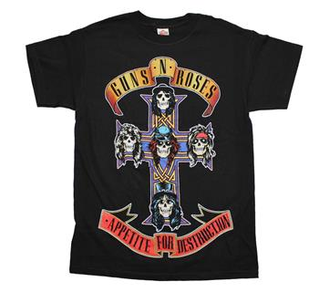 Buy Guns n Roses Appetite For Destruction Jumbo Print T-Shirt by GUNS 'N' ROSES