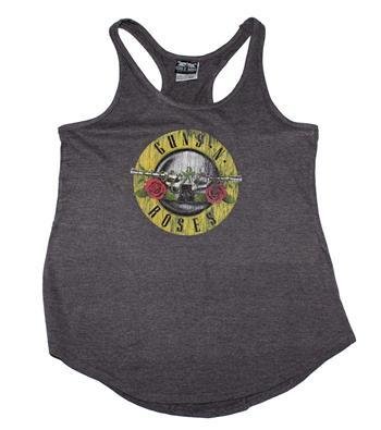 Buy Guns n Roses Distressd Logo Women's Racerback Tank - Heather by GUNS 'N' ROSES