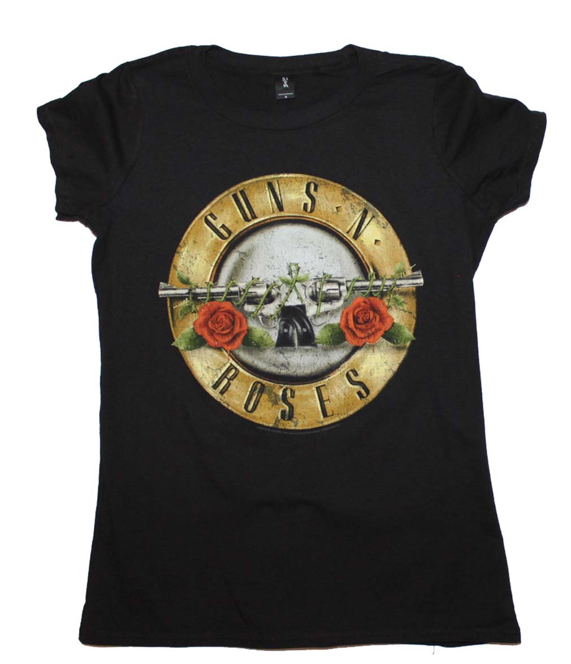 Guns N Roses Distressed Bullet 30/1 Juniors T-Shirt