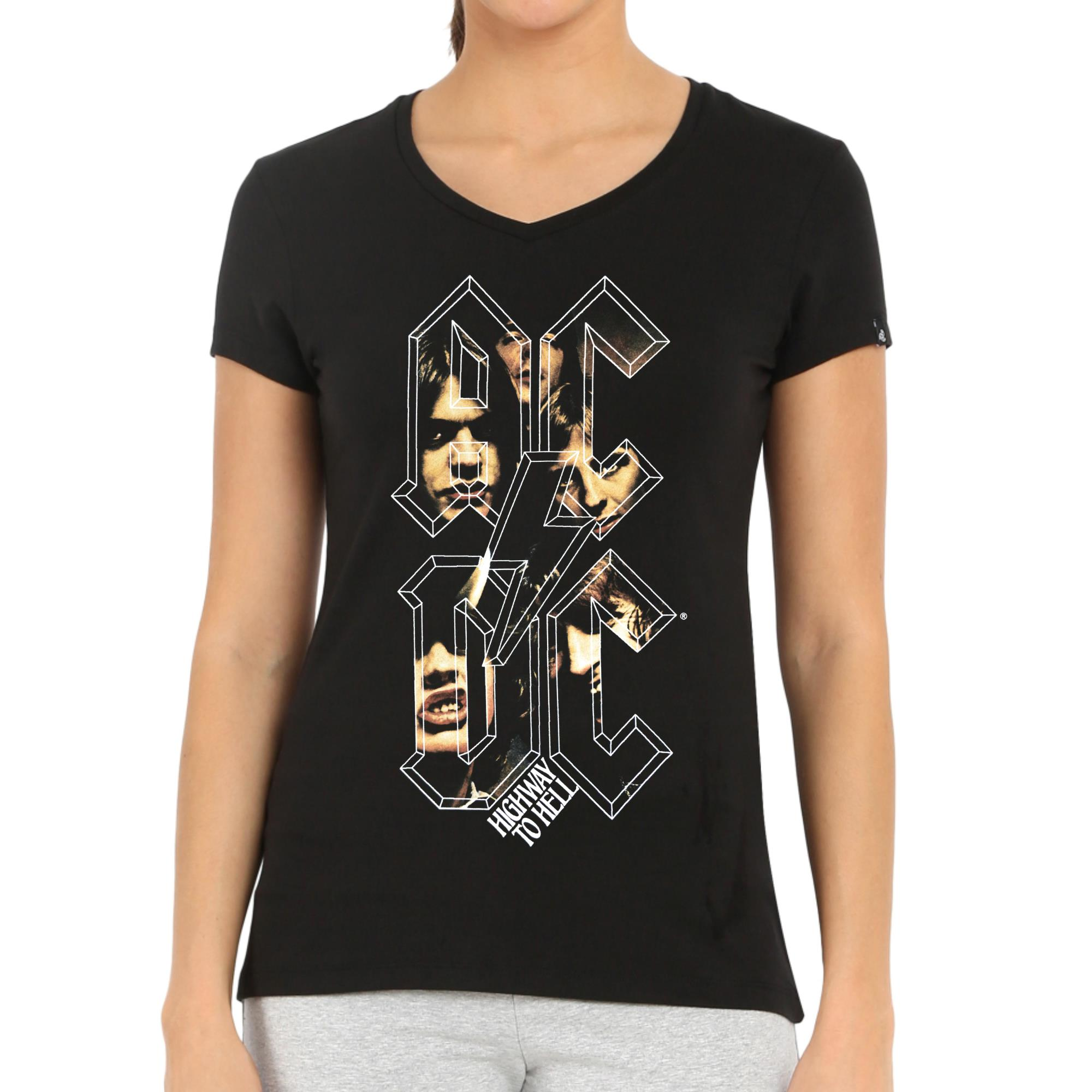 Highway To Hell Letters V-Neck Shirt