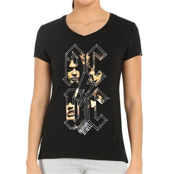 Buy Highway To Hell Letters V-Neck Shirt by AC/DC