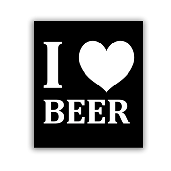 Buy I Love Beer Sticker by Generic