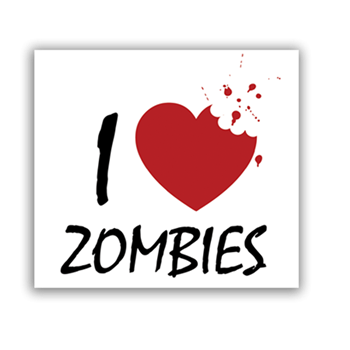 Buy I Love Zombies Sticker by Generic
