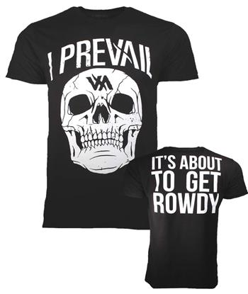 I Prevail I Prevail Large Rowdy Skull T-Shirt