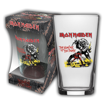 Buy Number Of The Beast Beer Glass by Iron Maiden