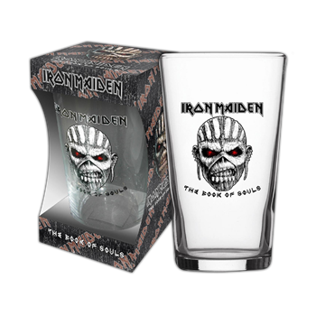 Buy Book Of Souls Beer Glass by Iron Maiden