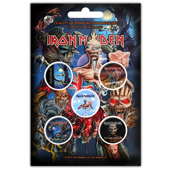 Buy Later Albums (Button Badge Set) by Iron Maiden