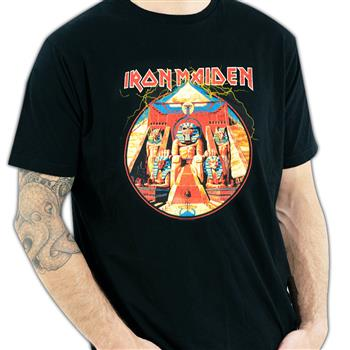 Buy Powerslave Lightning Circle (Rock Plus Exclusive) T-Shirt by Iron Maiden
