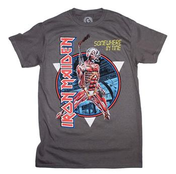 Buy Iron Maiden Somewhere in Time Vintage Circle T-Shirt by Iron Maiden