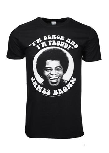 James Brown James Brown Black and Proud T-Shirt