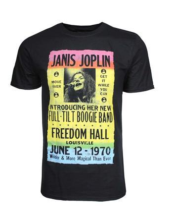Janis Joplin Janis Joplin Freedom Hall Poster T-Shirt