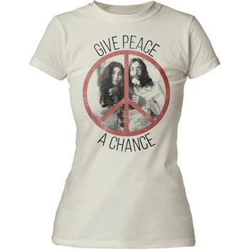 Buy John Lennon Give Peace a Chance Juniors Tee by JOHN LENNON