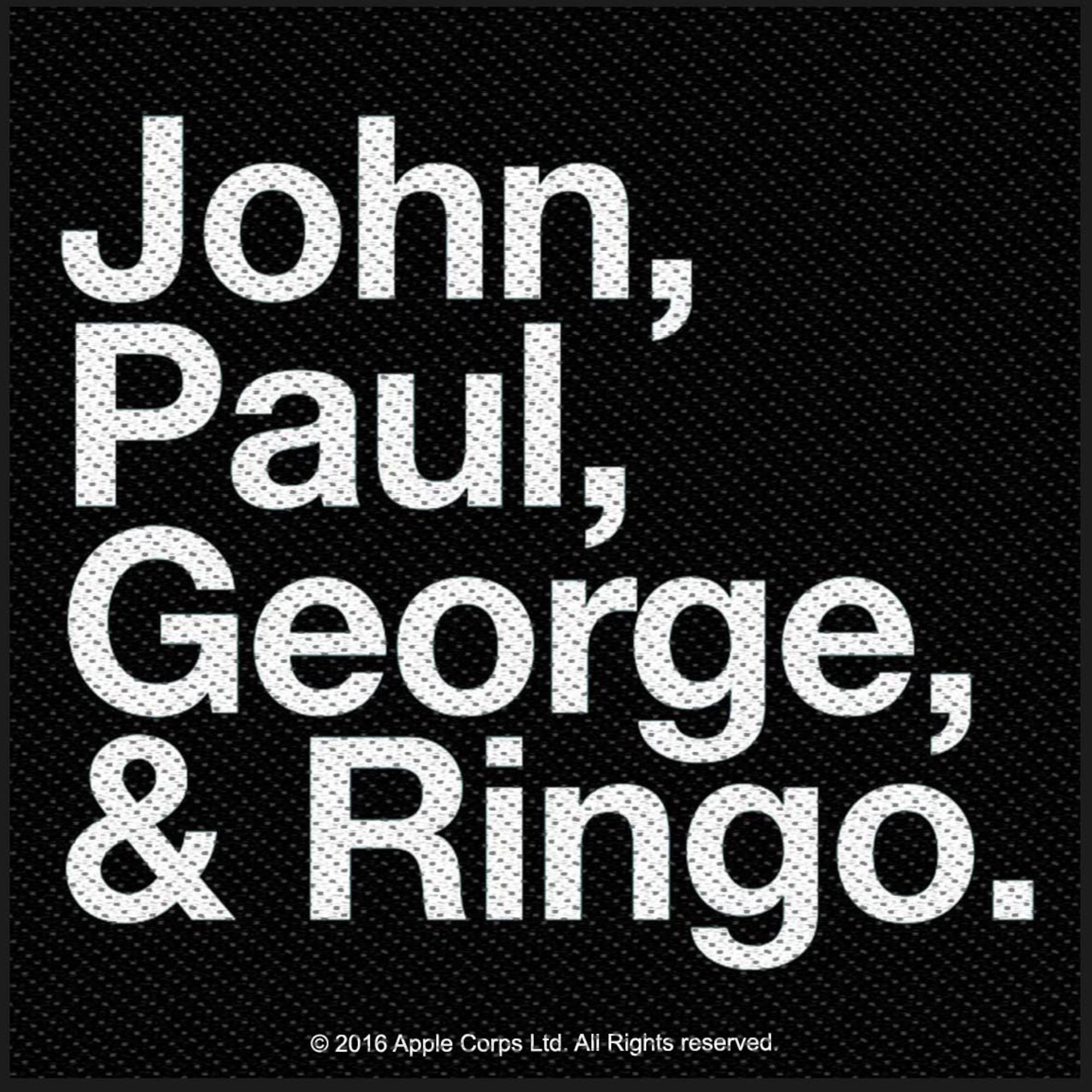 John, Paul, George & Ringo Patch