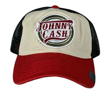 Buy Johnny Cash Logo Trucker Hat by Johnny Cash