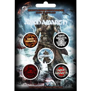 Amon Amarth Jomsviking Button Pin Set
