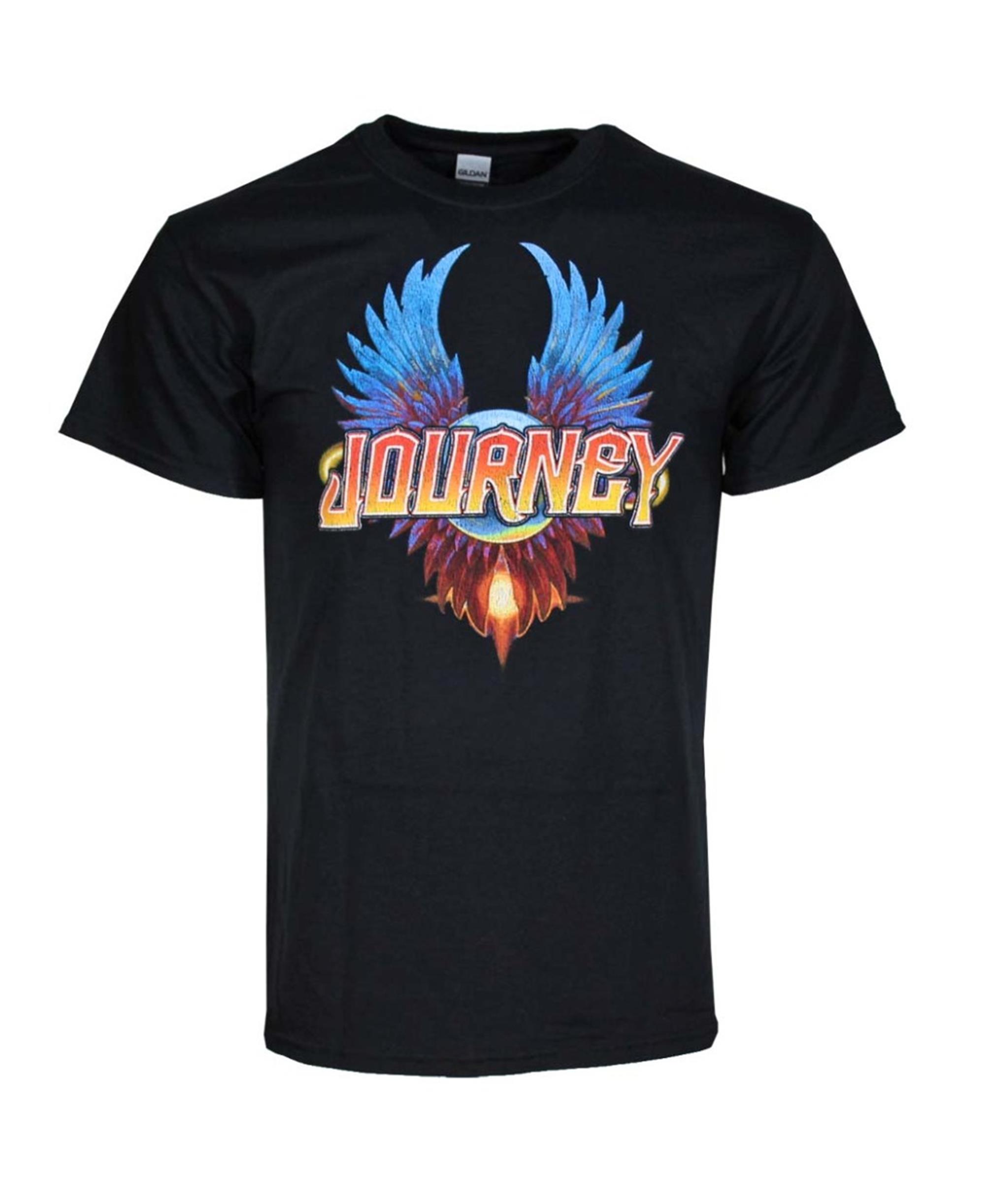 Journey Black Classic Wings T-Shirt