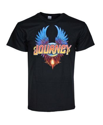 Journey Journey Black Classic Wings T-Shirt