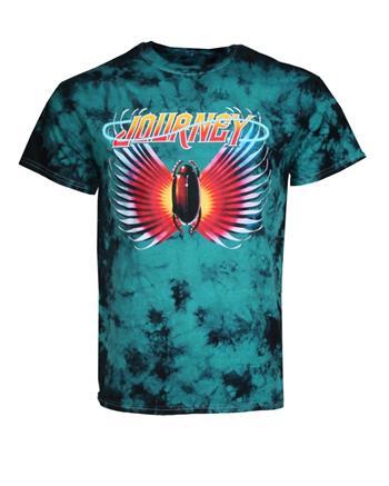 Journey Journey Black Teal Tie Dye T-Shirt