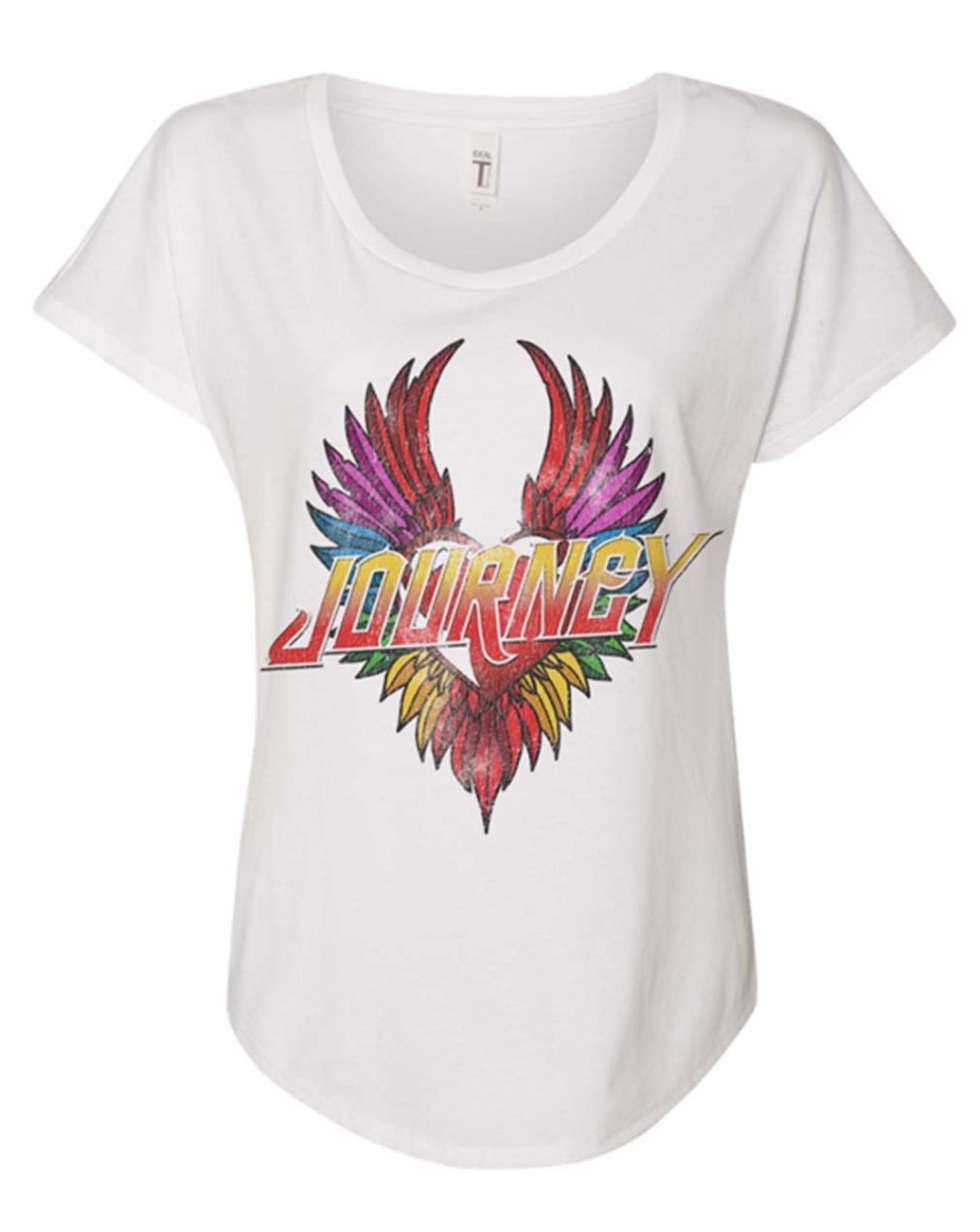 Journey White Heart Wings Ladies T-Shirt