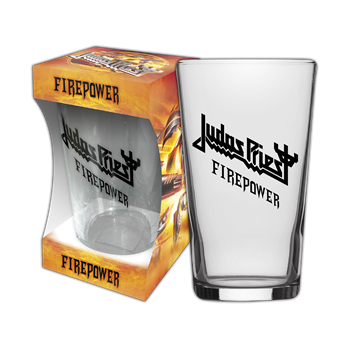 Judas Priest Firepower Beer Glass