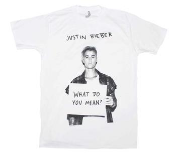 Buy Justin Bieber What Do U Mean T-Shirt by JUSTIN BIEBER