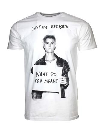 Buy Justin Bieber What Do U Mean T-Shirt by Justin Bieber