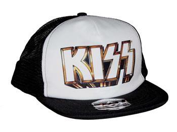 KISS KISS Gold Logo Snapback Trucker Hat