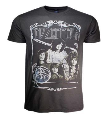 Led Zeppelin Led Zeppelin 1969 Band Promo Photo T-Shirt