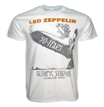 Buy Led Zeppelin Blimp 50 Years T-Shirt by Led Zeppelin