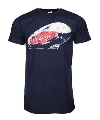 Led Zeppelin Led Zeppelin Blimp Logo Navy T-Shirt