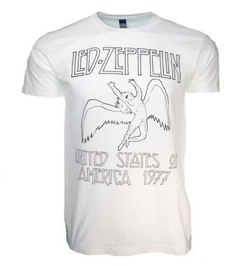 Led Zeppelin Led Zeppelin USA 77 White T-Shirt