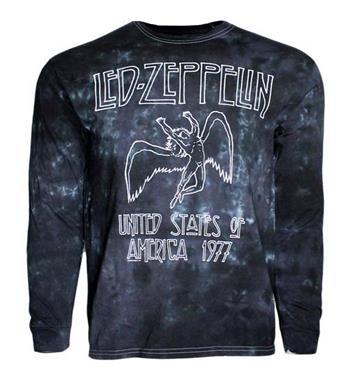 Led Zeppelin Led Zeppelin USA Tour 77 Tie Dye Long Sleeve Shirt