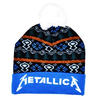Metallica Logo Winter Pom Beanie
