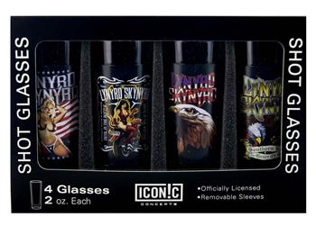 Buy Lynyrd Skynyrd Shot Glasses Set (4 Pack) by Lynyrd Skynyrd