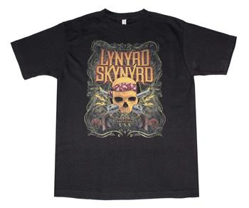 Buy Lynyrd Skynyrd Skull With Gun T-Shirt by Lynyrd Skynyrd