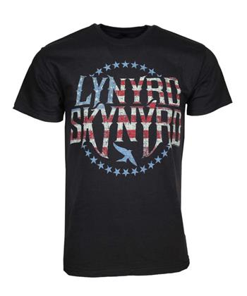 Buy Lynyrd Skynyrd Stripes and Stars Logo T-Shirt by Lynyrd Skynyrd