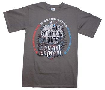 Buy Lynyrd Skynyrd Support Southern Rock T-Shirt by Lynyrd Skynyrd